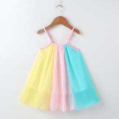 Toddler Girl Colourblock Chiffon Dress