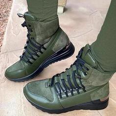 Dla kobiet Zamsz Obcas Koturnowy Martin Buty Z Sznurowanie obuwie