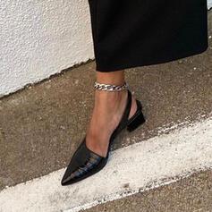 Dla kobiet PU Obcas Slupek Czólenka Z Jednolity kolor obuwie