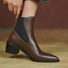 Dla kobiet Skóra ekologiczna Obcas Slupek Spiczasty palec u nogi Z Kolor splotu obuwie