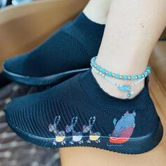 Dla kobiet Tkanina mesh Płaski Obcas Plaskie Niskie góry Z Elastyczna taśma obuwie