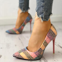 Women's PU Stiletto Heel Closed Toe With Others shoes