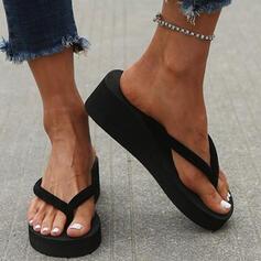 Dla kobiet PVC Obcas Koturnowy Sandały Koturny Japonki Kapcie Obcasy Z Colorblock obuwie