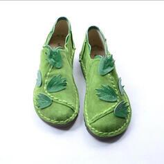 Dla kobiet Skóra ekologiczna Płaski Obcas Plaskie Niesznurowane mokasyny Z Jednolity kolor obuwie