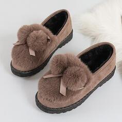 Dla kobiet Zamsz Płaski Obcas Plaskie Z Tkanina Wypalana Jednolity kolor obuwie