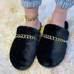 Dla kobiet Zamsz Płaski Obcas Slajd i muły Z Zdobiony koralikami obuwie