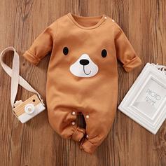 niemowlę Kreskówka Przycisk Zwierzę Bawełna Jednoczęściowe