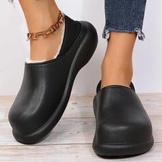 Dla kobiet EVA Płaski Obcas Plaskie Poślizgnąć się na Z Jednolity kolor obuwie