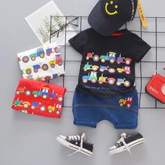 2-częściowy Chłopcy 0-24mc Streetwear Bawełna Ustaw Rozmiar