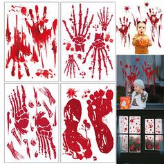 Piękny Przerażające Rysunek Halloween Krew Lateks Naklejka