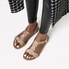 Dla kobiet Skóra z mikrofibry Płaski Obcas Sandały Plaskie obuwie