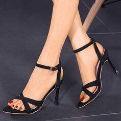 Dla kobiet PU Obcas Stiletto Otwarty Nosek Buta Z Klamra obuwie