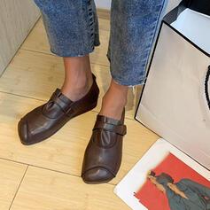 Dla kobiet PU Płaski Obcas Plaskie Poślizgnąć się na Z Elastyczna taśma obuwie