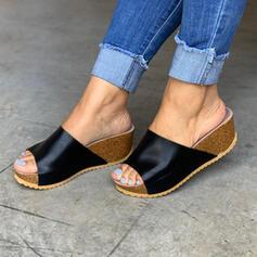 Dla kobiet PU Płaski Obcas Otwarty Nosek Buta Kapcie obuwie