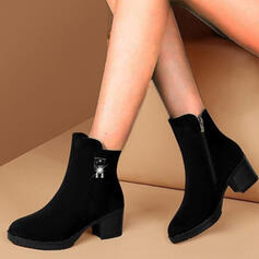 Dla kobiet PU Obcas Slupek Kozaki Z Jednolity kolor obuwie