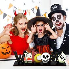 Kolorowe gotyk Przerażające Duch Szkielet Drewniany Rekwizyty na Halloween Dekoracje na Halloween (Sprzedawane w jednym kawałku)