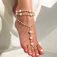 Uroczy Stop Z Imitacja Pereł Biżuteria plażowa Obrączki