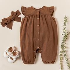 2-częściowy niemowlę Kwiatowy Nadruk Bawełna Jednoczęściowe