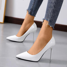 Dla kobiet Skóra ekologiczna Obcas Stiletto Czólenka Obcasy Z Jednolity kolor obuwie