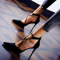 Dla kobiet Zamsz Obcas Stiletto Czólenka Z Jednolity kolor obuwie
