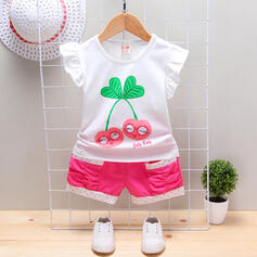 2-pieces Baby Girl Letter Polka Dot Print Cotton Set
