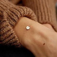 Letter Simple Initial Alloy Women's Bracelets