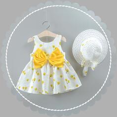 Dziewczynki 2-5lat Kokarda Nadruk Suknia