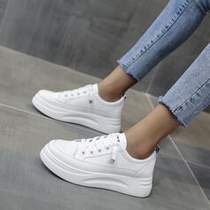 Dla kobiet PU Płaski Obcas Plaskie Z Sznurowanie Jednolity kolor obuwie