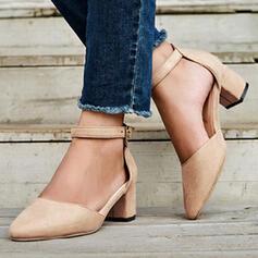 Dla kobiet PU Obcas Slupek Czólenka Obcasy Z Klamra Jednolity kolor obuwie