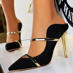 Dla kobiet Satyna Obcas Stiletto Czólenka Obcasy Z Kolor splotu obuwie