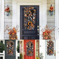 Zabytkowe Przerażające Egzotyczny Halloween Tkanina PP Wiszące drzwi Girlanda Rekwizyty na Halloween