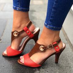 Dla kobiet PU Obcas Stiletto Sandały Czólenka Otwarty Nosek Buta Obcasy Z Klamra obuwie