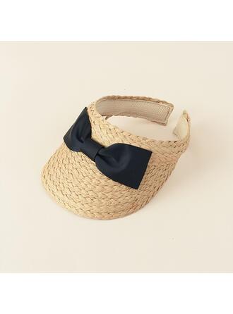 Ladies' Beautiful/Classic/Elegant/Simple Raffia With Bowknot Straw Hats/Beach/Sun Hats