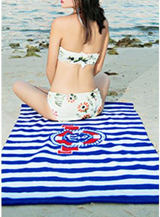 paski/retro / vintage/Geometryczny Wygodny/Wielofunkcyjny/Bez piasku/Szybkie schnięcie ręcznik plażowy