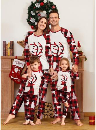 Renifer Kratę Rodzinne Dopasowanie Świąteczne piżamy