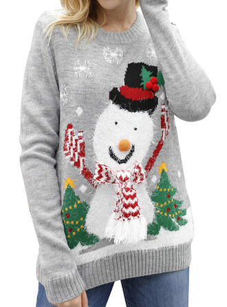 Damskie Poliester Wydrukować Brzydki świąteczny sweter