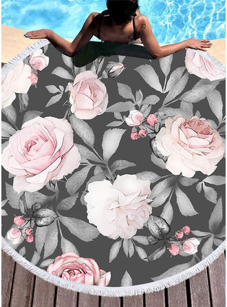 Kwiatowy atrakcyjny ręcznik plażowy