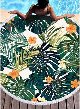 Kwiatowy atrakcyjny/moda/świeży ręcznik plażowy