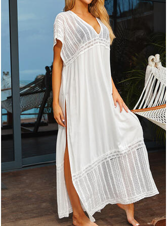 Solid Color Blouson Casual Luxury Cover-ups Swimsuits
