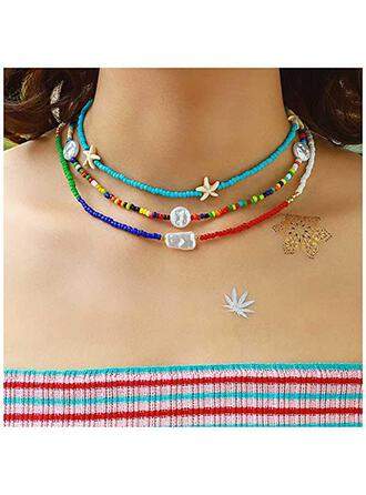 Sexy Pretty Delicate Adjustable Alloy Imitation Pearls Glass Beads Women's Ladies' Necklaces Choker Necklace 3 PCS