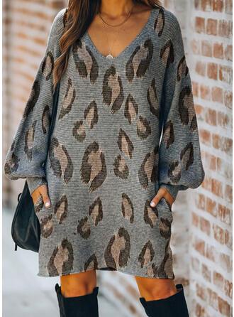 lampart Długie rękawy Casual Sukienki