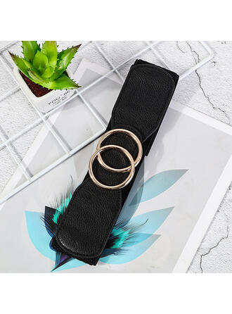 Simple Charming Artistic Delicate Cow Leather With Breathable Minimalist Women's Wide Belt