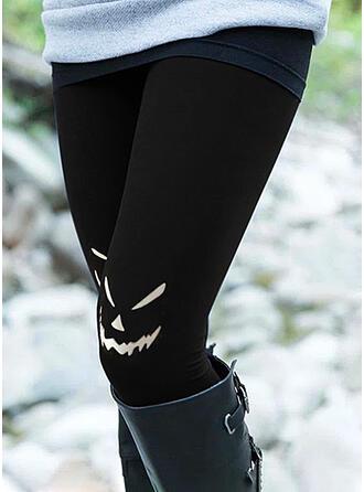 Halloween Nadruk Kreskówka Długo Nieformalny Duży rozmiar Pocket Sztylpy