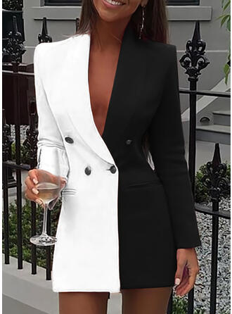 Wyszczuplająca Długie rękawy Bodycon Nad kolana Casual/Elegancki Sukienki