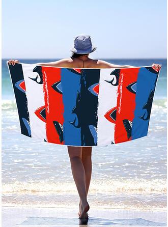 Color Block/Bohemia/Kolorowy lekkie/Wielofunkcyjny/Bez piasku/Szybkie schnięcie ręcznik plażowy