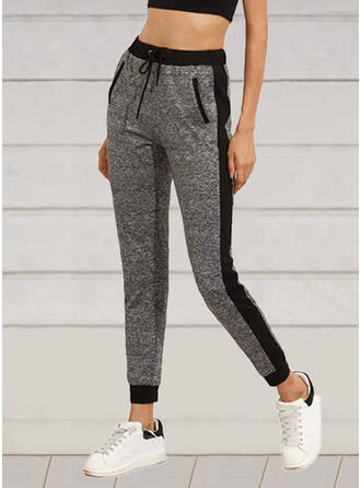 Patchwork Drawstring Casual Lounge Pants