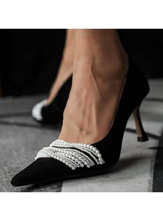 Dla kobiet PU Szpilki Czólenka Z Imitacja Pereł obuwie