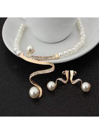 Luksusowy Stop Z Sztuczna perła Dla kobiet Naszyjniki