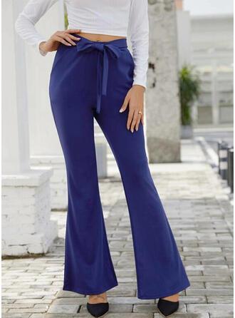 Marszczona Sznurek do ściągacza Długo Elegancki Seksowny Spodnie