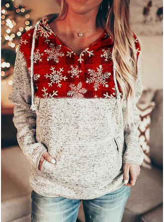 Wydrukować Krata Długie rękawy Świąteczna bluza